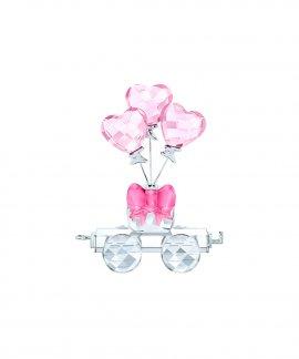 Swarovski Heart Balloons Wagon Decoração Figura de Cristal 5428615