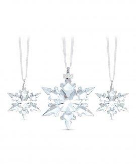 Swarovski Snowflakes Annual Edition 2020 Decoração Figura de Cristal Adorno Set 5489234