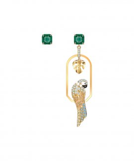 Swarovski Tropical Parrot Joia Brincos Mulher 5519255