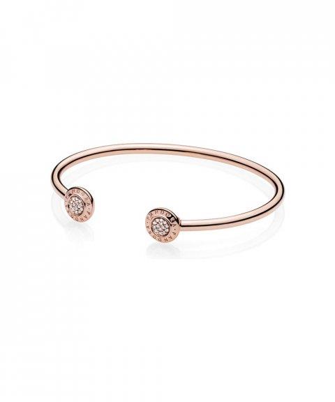 Pandora Rose Signature Open Bangle Joia Pulseira Mulher 580528CZ