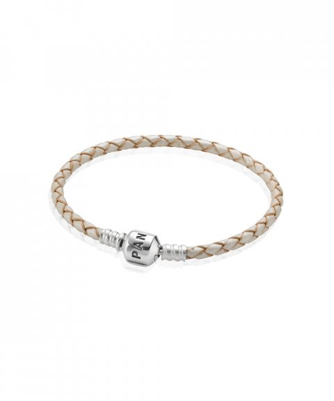 Pandora Moments Single Woven Leather Joia Pulseira Mulher 590705CPL-S