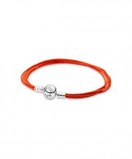 Pandora Moments Orange Multi-Strand Joia Pulseira Mulher 590715COE-M