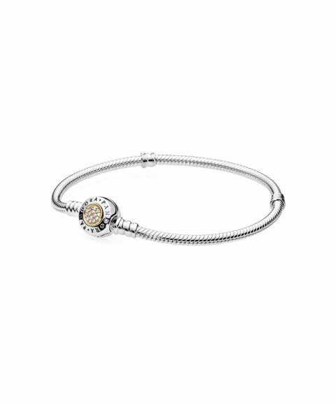 Pandora Moments Two Tone Bracelet Joia Pulseira Mulher 590741CZ
