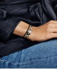 Pandora Moments Double Leather Joia Pulseira Mulher 597194CBK
