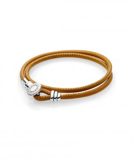 Pandora Moments Double Leather Joia Pulseira Mulher 597194CGT