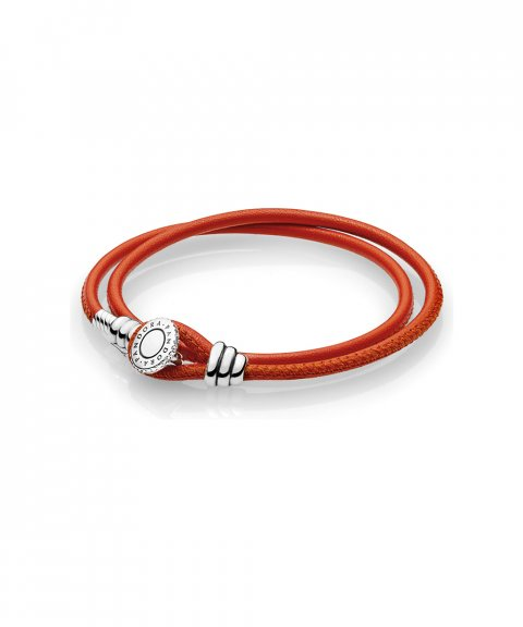 Pandora Moments Double Leather Joia Pulseira Mulher 597194CSO