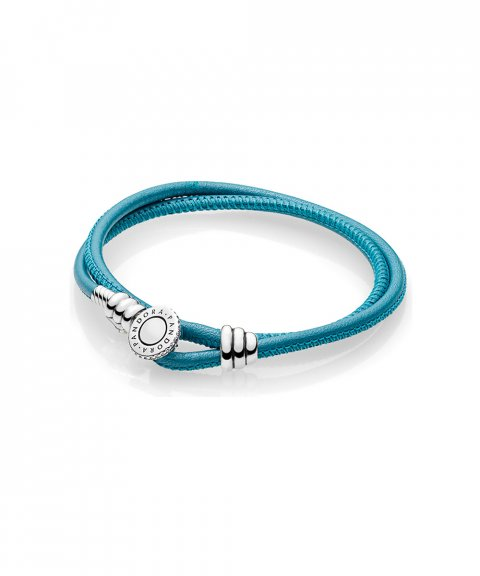 Pandora Moments Double Leather Joia Pulseira Mulher 597194CTQ