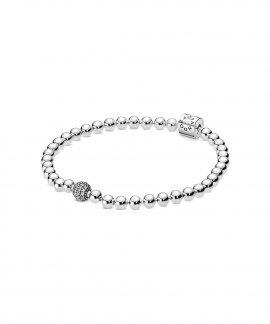 Pandora Beads and Pavé Joia Pulseira Mulher 598342CZ