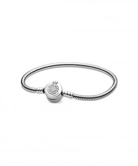 Pandora Moments Sparkling Crown O Snake Joia Pulseira Mulher 599046C01