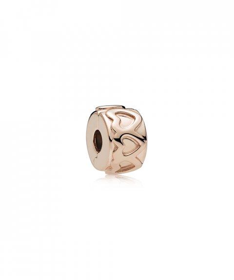 Pandora Rose Row of Hearts Joia Conta Clip Mulher 781978