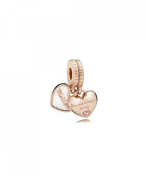 Pandora Rose Mother and Daughter Hearts Joia Conta Pendente Pulseira Mulher 782072EN23