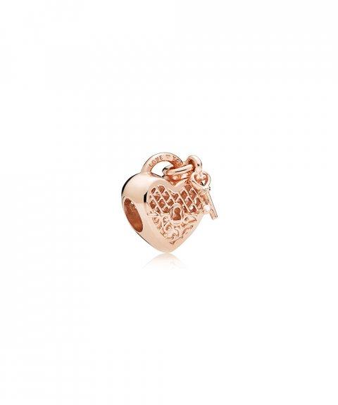 Pandora Rose Love You Lock Joia Conta Mulher 787655