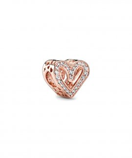Pandora Rose Sparkling Freehand Heart Joia Conta Mulher 788692C01
