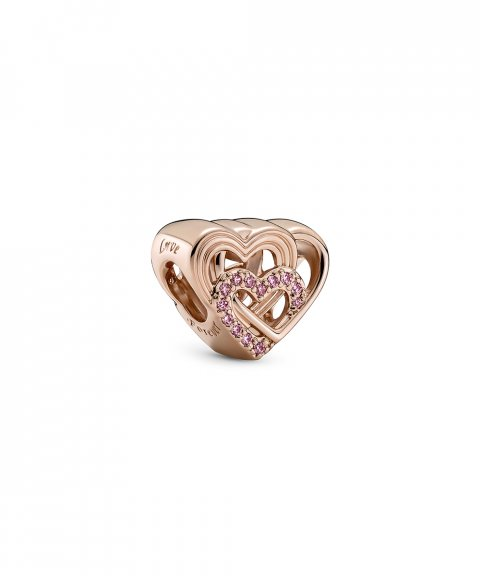 Pandora Rose Intertwined Love Hearts Joia Conta Mulher 789529C01