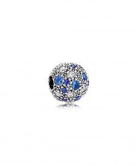 Pandora Blue Cosmic Stars Joia Conta Clip Mulher 791286NSBMX