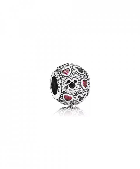 Pandora Disney Sparkling Mickey and Hearts Joia Conta Mulher 791457CZ