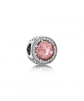 Pandora Radiant Hearts Rosy Joia Conta Mulher 791725NBP