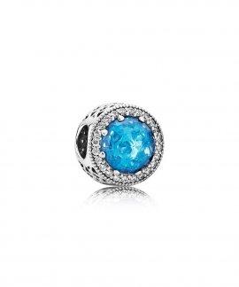 Pandora Radiant Hearts Sky Blue Joia Conta Mulher 791725NBS