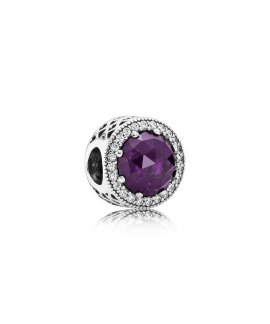 Pandora Radiant Hearts Royal Purple Joia Conta Mulher 791725NRP