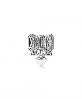 Pandora Heart and Bow Joia Conta Mulher 791776CZ
