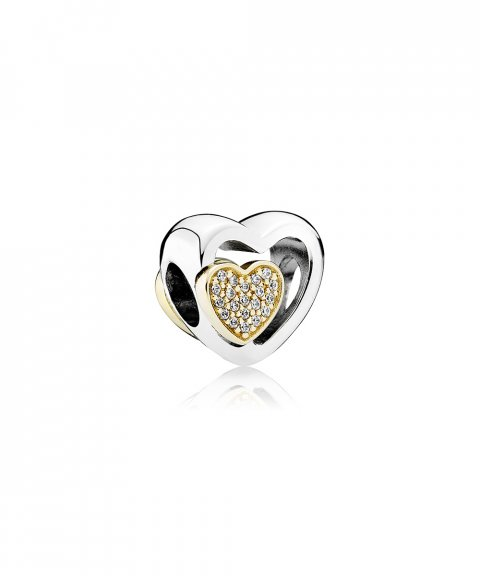 Pandora Two Hearts In One Joia Conta Mulher 791806CZ
