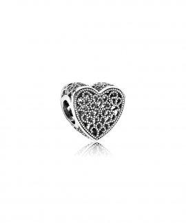 Pandora Openwork Romance Heart Joia Conta Mulher 791811