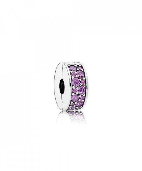 Pandora Fancy Purple Shining Elegance Joia Conta Clip Mulher 791817CFP