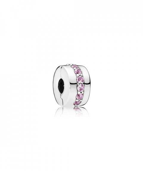 Pandora Pink Shinning Path Joia Conta Clip Mulher 791972PCZ