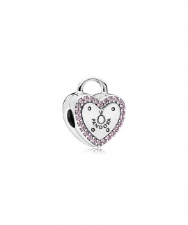Pandora Lock Your Promise Joia Conta Clip Mulher 796556FPC