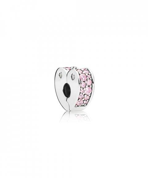 Pandora Pink Arcs of Love Joia Conta Clip Mulher 797020PCZ