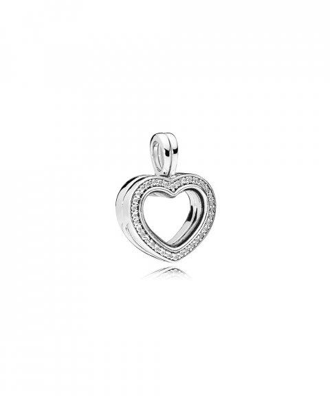Pandora Sparkling Heart Locket Joia Pendente Colar Mulher 797248CZ