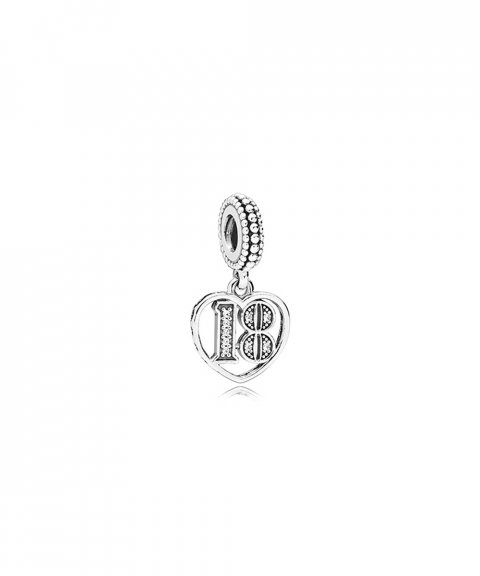Pandora 18 Years of Love Joia Conta Pendente Pulseira Mulher 797262CZ