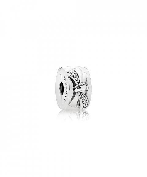 Pandora Shiny Bow Joia Conta Clip Mulher 797304CZ