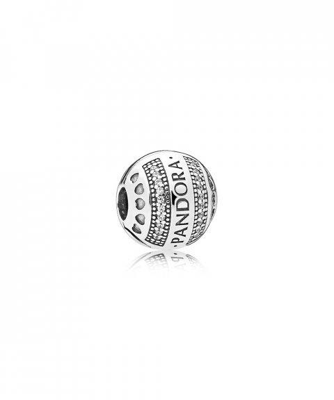 Pandora Logo Hearts Joia Conta Clip Mulher 797433CZ