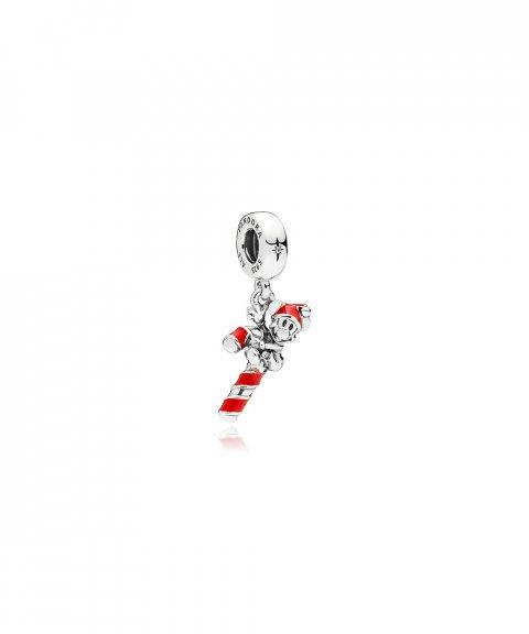 Pandora Disney Santa Mickey´s Candy Cane Joia Conta Pendente Pulseira Mulher 797500EN09