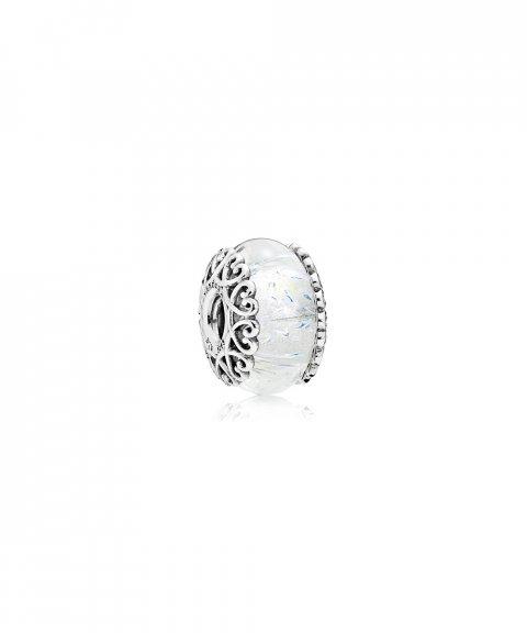 Pandora Iridescent White Glass Joia Conta Mulher 797617
