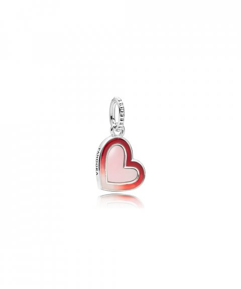 Pandora Asymmetric Hearts of Love Joia Conta Pendente Pulseira Mulher 797820ENMX