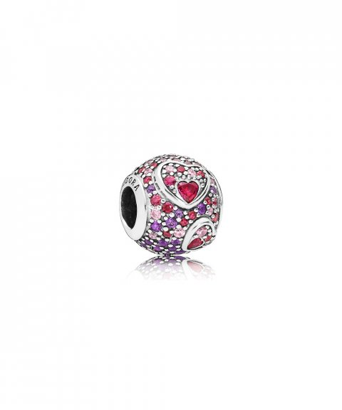 Pandora Asymmetric Hearts of Love Joia Conta Mulher 797826CZRMX