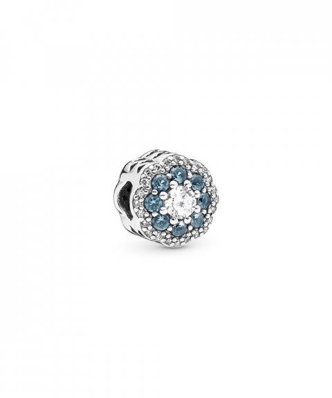 Pandora Sparkle Flower Blue Joia Conta Mulher 797851NMB