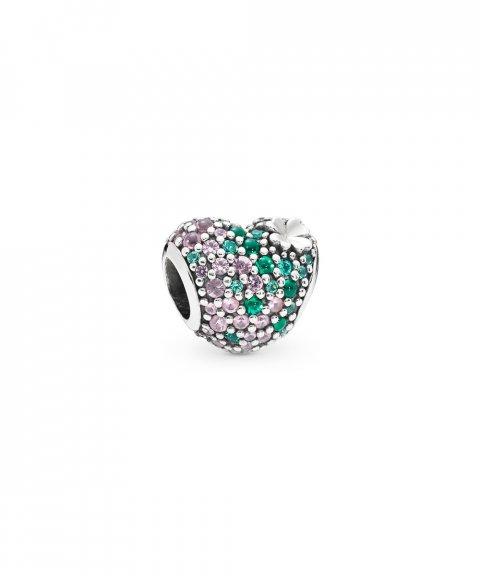 Pandora Gleaming Clover Heart Joia Conta Mulher 797869NRGMX