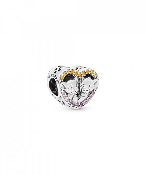 Pandora Disney Sparkling Simba and Nala Heart Joia Conta Mulher 798044NPRMX