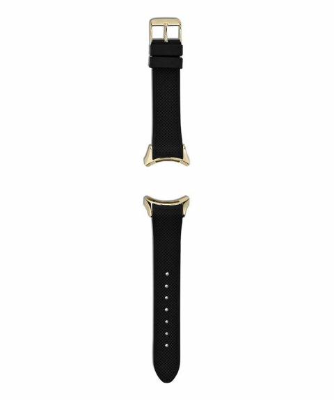 Pandora Black Rubber Strap With Stainless Steel Buckle Bracelete Mulher 882031BK