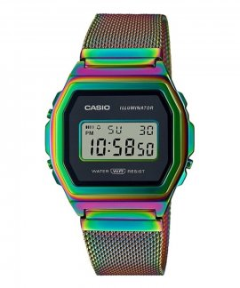 Casio Collection Vintage Iconic Rainbow Relógio Mulher A1000RBW-1ER