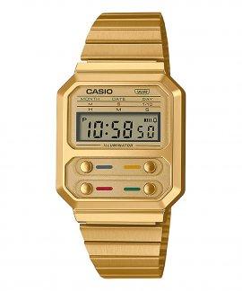 Casio Collection Vintage Edgy Relógio A100WEG-9AEF