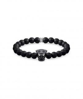 Thomas Sabo Black Cat Onyx Joia Pulseira A1777-916-11-L17