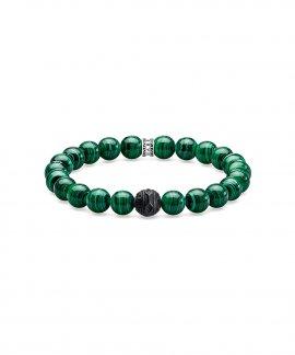 Thomas Sabo Black Cat Green Joia Pulseira A1778-530-6-L17