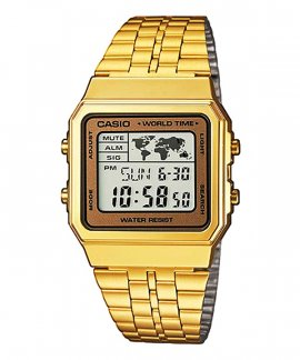 Casio Collection Retro World Time Relógio A500WEGA-9EF