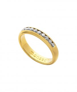 Monseo Moments Joia Anel Mulher Ouro 19.2K e Diamantes AN0619