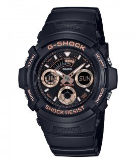 Casio G-Shock Black and Rose Gold Basic Relógio Homem AW-591GBX-1A4ER