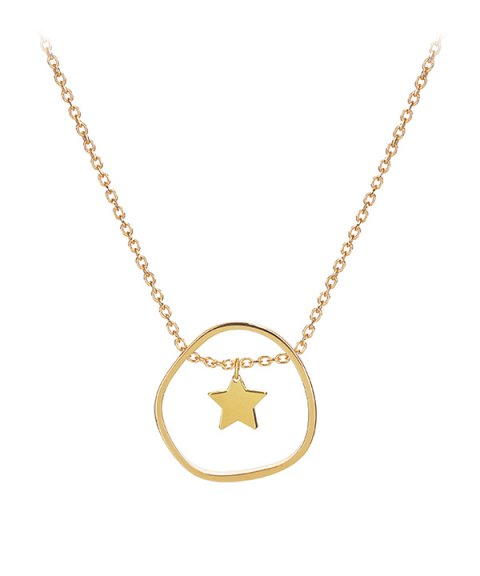 Omnia Outline Star Joia Colar Mulher C1524T-D